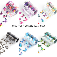 Nail Transfer Paper Butterfly Series Starry Sky Sticker 10-color Set Magazine Distressed Decoration