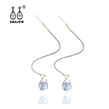 купить DREJEW Crystal Chain Water Drop Rhinestone Gold Silver Statement Earrings 2019 925 Drop Earrings Sets for Women Jewelry HE507 онлайн