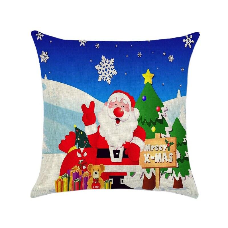 18 pollici 45 CENTIMETRI 1 PC Buon Natale Coperte e Plaid Copertura del Cuscino di Natale Babbo Natale Cuscino per il Sofà Divano Bacca Corona cassa del cuscino, - 4