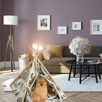 Namiot indiański Pet mały namiot dla zwierząt domowych gniazdo dla kota zmywalna tkanina płócienna gniazdo dla zwierząt domowych gniazdo dla zwierząt domowych na świeże powietrze dla zwierząt domowych materiały podróżne tanie i dobre opinie