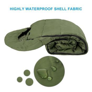 Agemore 220x80cm Envelope Winter Sleeping Bag Electric Heating Camping Sleeping Bag Outdoor Traveling Sleeping Bag Waterproof 6