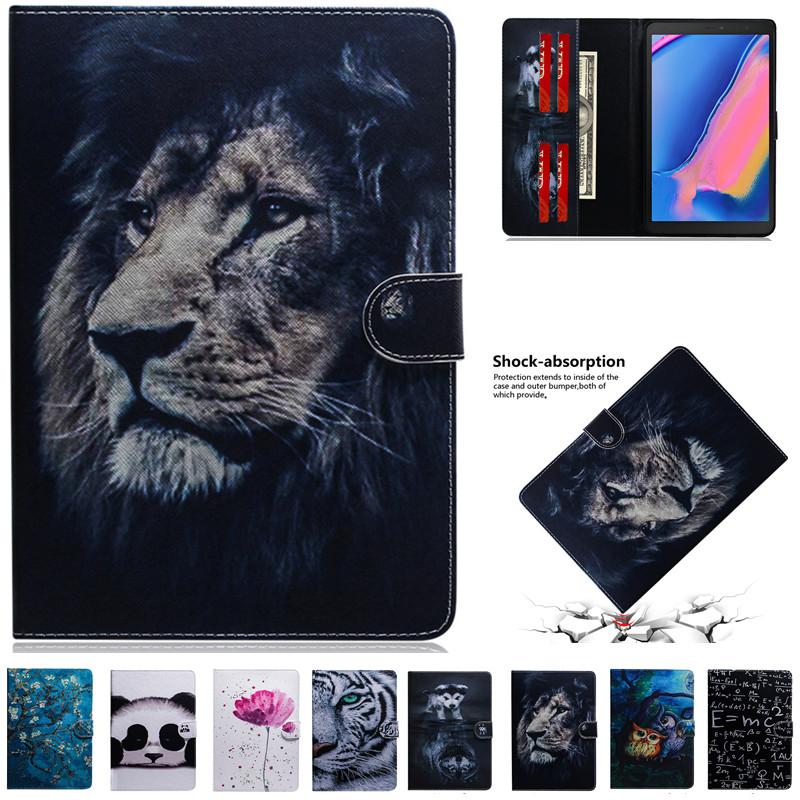 Tiger Lion Panda Pattern Tablet Case For Huawei Mediapad M5 Lite 8 Cover Ultra Slim Folding Smart Cover For Honor Tab 5 2019