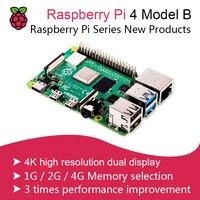 New 2019 Official Original Raspberry Pi 4 Model B Development Board Kit RAM 1G/2G/4G 4 Core CPU 1.5Ghz 3 Speeder Than Pi 3B+