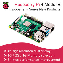 New 2019 Official Original Raspberry Pi 4 Model B Development Board Kit RAM 2G/4G 4 Core CPU 1.5Ghz 3 Speeder Than Pi 3B+