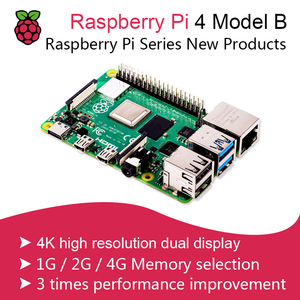 New 2019 Official Original Raspberry Pi 4 Model B Development Board Kit RAM 2G/4G 4 Core CPU 1.5Ghz 3 Speeder Than Pi 3B+(China)