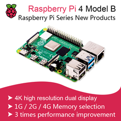 Nieuwe 2019 Officiële Originele Raspberry Pi 4 Model B Development Board Kit Ram 2G/4G 4 Core cpu 1.5Ghz 3 Speeder dan Pi 3B +