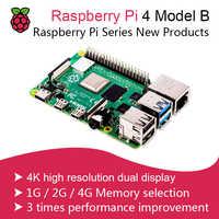 Novo 2019 original oficial raspberry pi 4 modelo b placa de desenvolvimento kit ram 2g/4g 4 núcleo cpu 1.5 ghz 3 speeder do que pi 3b +