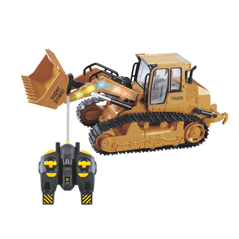 Kids Car Toys Remote Control Bulldozer XM-6822L With Sound Toy Car Model Engineering Car Toy Equipped With USB Charging Cable