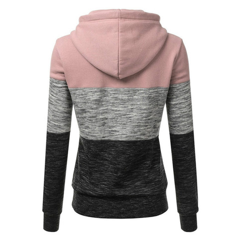 Hoodies Women Sweatshirts Fashion Womens Casual Hoodies Sweatshirt Patchwork Ladies Hooded Pullover Women Clothes Bluza Damska Islamabad