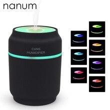 3 in 1 Aroma Diffusor Dosen Auto Luftbefeuchter Mini Luftreiniger Aromatherapie Ätherisches Öl LED Nachtlicht USB Fan Fogger