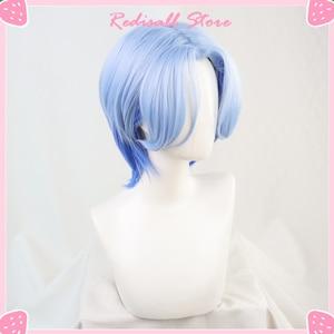 Парик для косплея из аниме SK∞ Langa, термостойкий, с градиентными синими короткими прямыми волосами Mullet, SK8 the Infinity SK Eight| |   | АлиЭкспресс