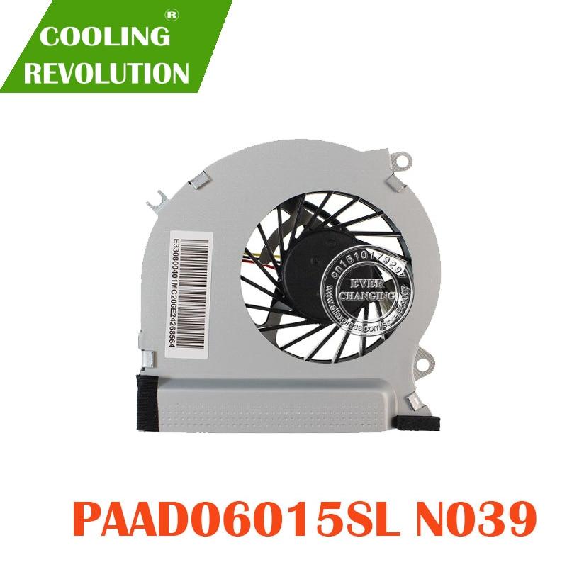 Вентилятор охлаждения процессора, подходит для ноутбука MSI GE70 серии PAAD0615SL 3pin 0.55A 5VDC N039 N285