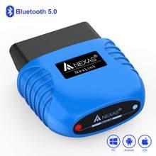 Nexas nexlink bluetooth 5.0 obd 2 scanner eobd ferramenta de diagnóstico leitor código do motor ferramenta verificação carro para ios android windows