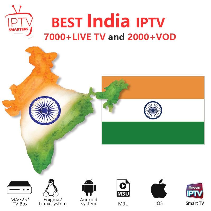 India IPTV M3U IPTV 7000+ Live HD Channels for M3u Mag Box Smart Tv Code Sports Adults Iptv Subscription Arabic Iptv Box ugoos(China)