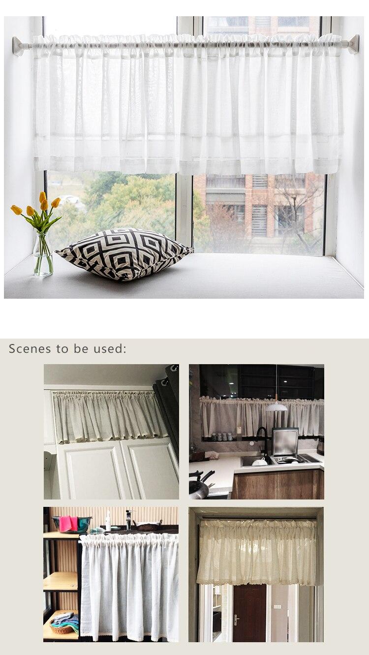 CITYINCITY Half Curtain for kitchen Transparent Sheer Tulle Short door Curtain for barHome Decor Customized