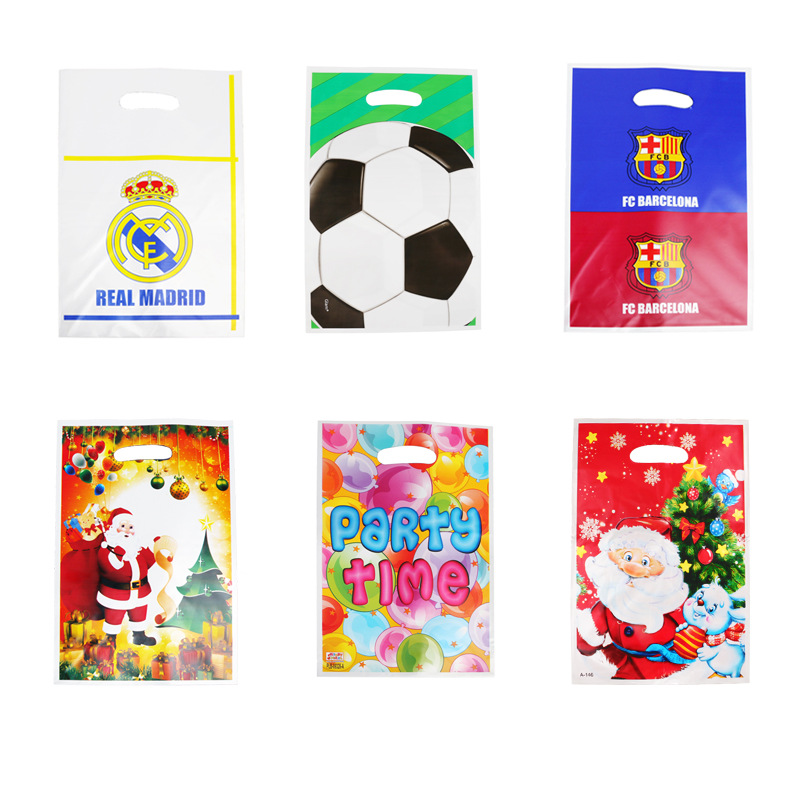 Cartoon Football Santa Claus Christmas Decorations For Home Party Gift Bags Baby Shower Child Birthday Party Gift Bag