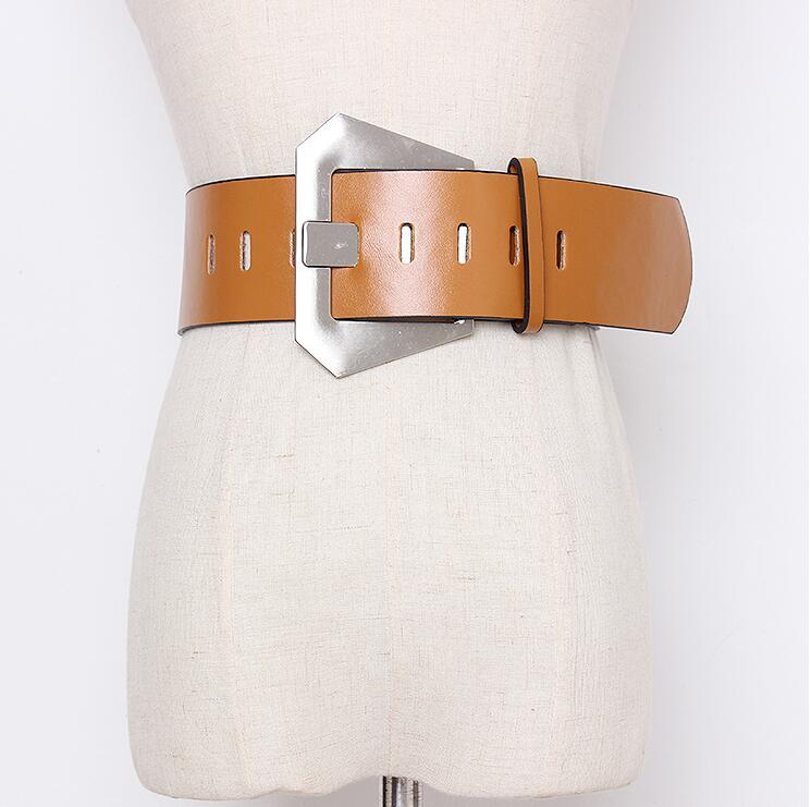 Women's Runway Fashion Pu Leather Cummerbunds Female Dress Corsets Waistband Belts Decoration Wide Belt R2439