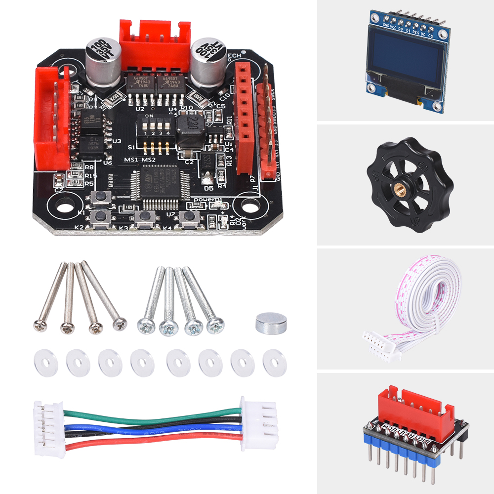 cheapest BIGTREETECH S42B V1 1 Closed Loop Driver Control Board OLED SERVO42 42 Stepper Motor 3D Printer Parts SKR V1 3 V1 4 Turbo ender3