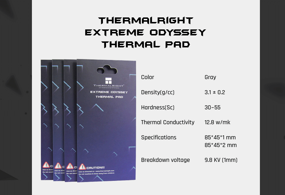 Thermalright Extreme Odyssey Thermal Pad 12.5W/mK Multifunction Insulation Pad For GPU/RAM/Motherborad/SSD etc. Circuit board