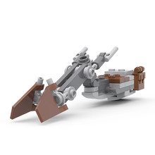 MOC-Mini Mandalor speedder Bike para niños, Star of Space Wars, bloques de construcción, Idea DIY, coche, piezas, juguete para niños, regalo