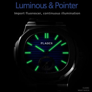 Image 4 - PLADEN Diving Chronograph Wristwatch Mens Waterproof Quartz Clock Male Stainless Steel Luxury Brand Men Watch Relogio Masculino