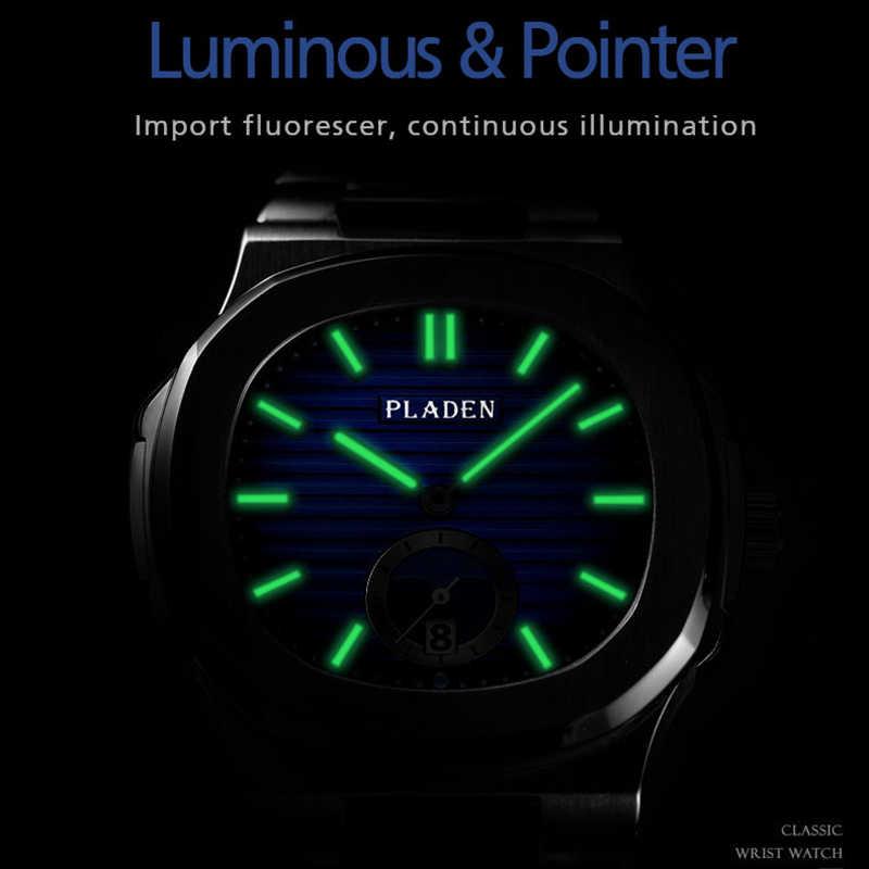 ใหม่สองโทนทองPatekนาฬิกาNautilus 5711 Designerดำน้ำนาฬิกาผู้ชายสีดำDial Chronographสร้อยข้อมือAAAนาฬิกากันน้ำ