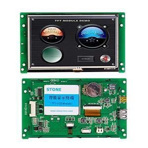 Программируемый сенсорный экран 5 дюймов HMI TFT Модуль с последовательным интерфейсом поддержка любого микроконтроллера/MCU 100 шт.