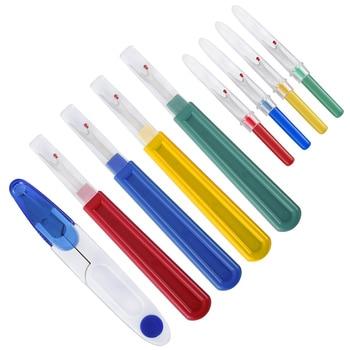 8 unids/set de hilo de retazos en forma de U, herramienta de corte, accesorio, cortador de costura, cortador de punto de cruz, recorte práctico