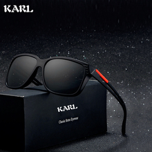 Men Sunglasses KARL Brand Design Polarized Aviation Driving Glasses Personality Hollow Mirror Legs Women