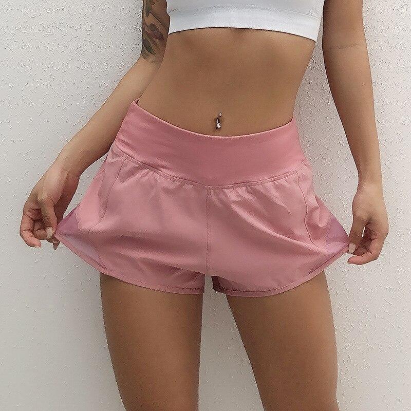 Женские спортивные шорты с высокой талией для фитнеса, йоги, женские спортивные шорты, крутые женские спортивные шорты для бега, фитнеса