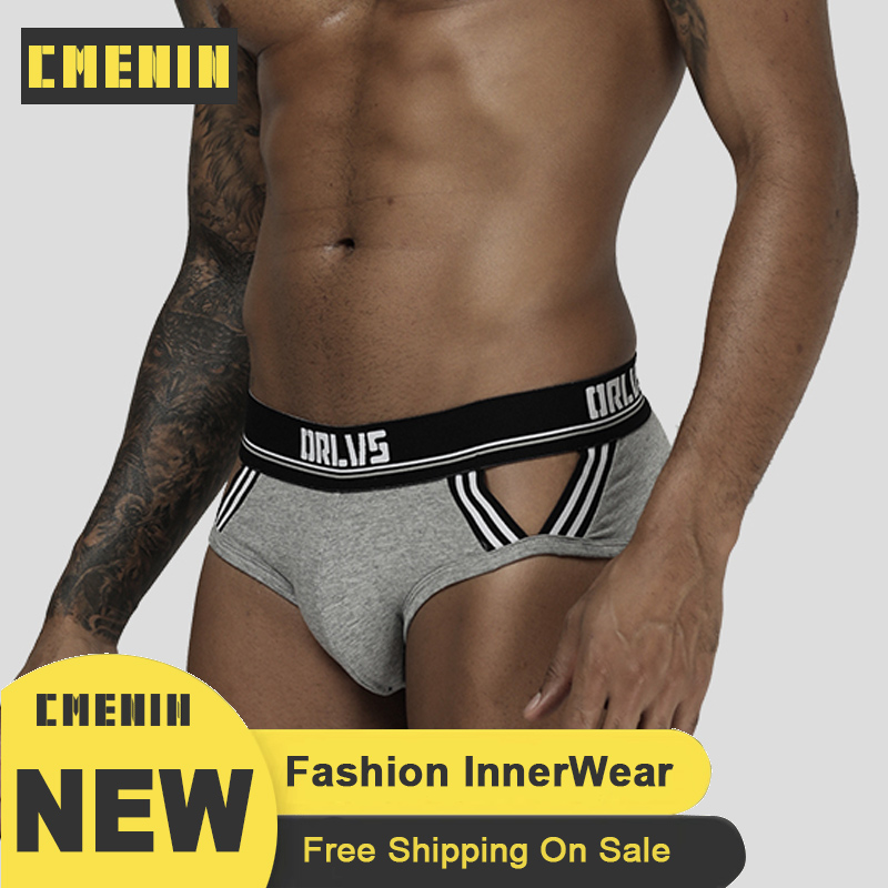 ORLVS ORLVS 2020 New Sexy Men Underwear Briefs Gay Male Jockstrap Bikini OR197 Under Wear Ropa Interior Hombre