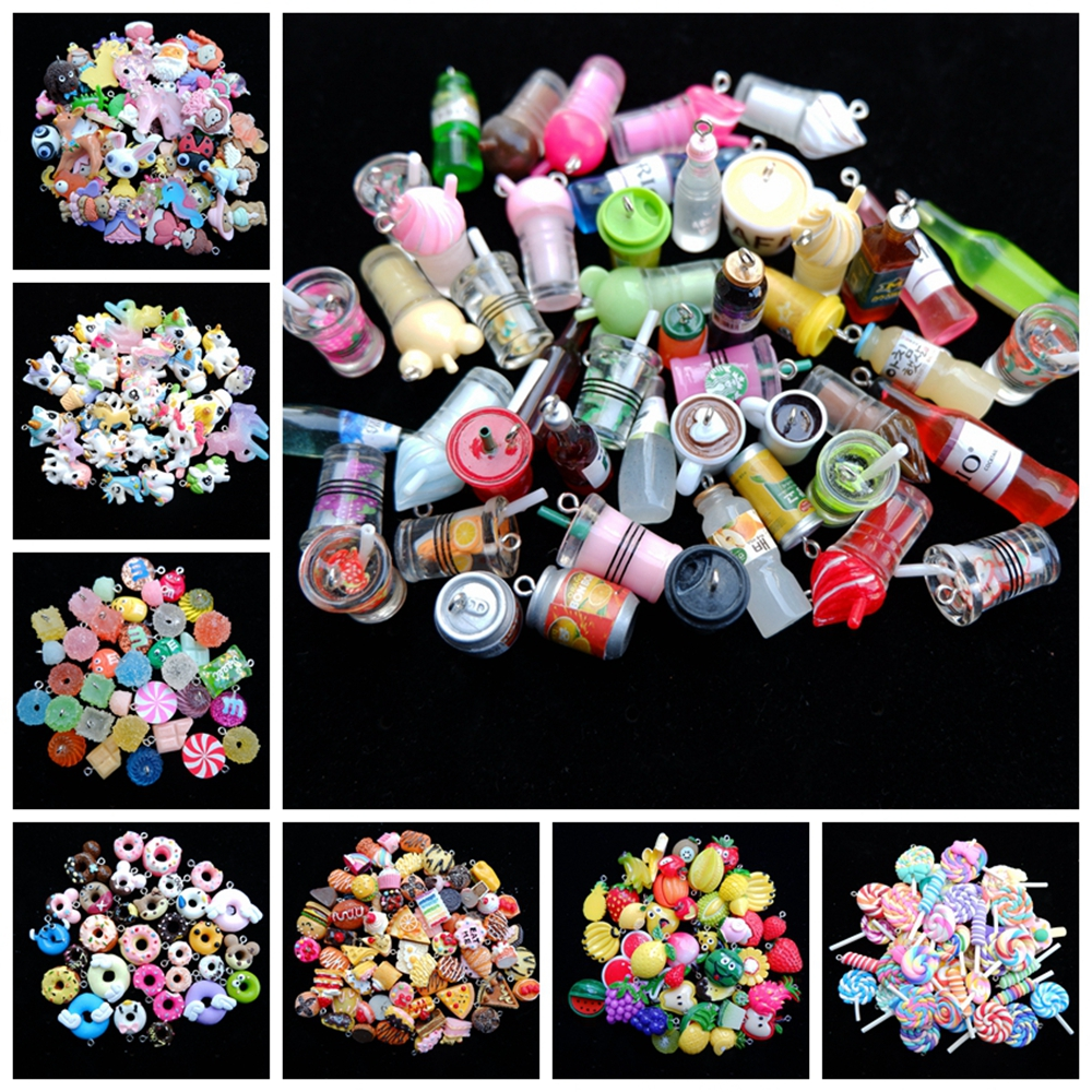 2-3 cm Mix set Charms Pendants for handmade decoration bracelets necklace earring key chain Jewelry Making(China)