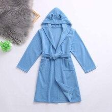 Одежда для детей ясельного возраста; пижамы для мальчиков и девочек; модные однотонные фланелевые банные халаты с капюшоном; полотенце; ночная рубашка; одежда для сна; pijama infantil