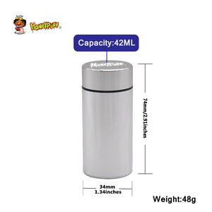 Image 2 - Honeypuff Luchtdicht Geur Proof Aluminium Stash Jar Tabak Doos Metalen Kruid Opslag Container Pillendoosje