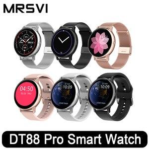 MRSVI DT88 PRO Smart Watch 1,3 дюймов Полный Круглый полный сенсорный экран для женщин для мужчин Спорт сердечного ритма Smartwatch Водонепроницаемый во врем...