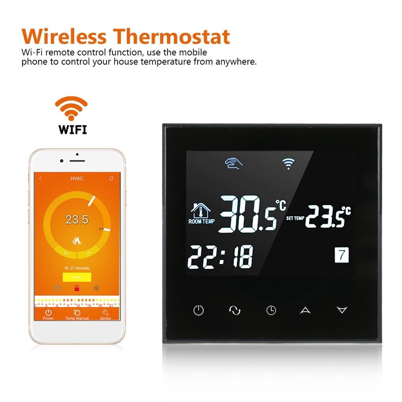Thermostat d'écran tactile d'affichage à cristaux liquides de WIFI système chaud de chauffage par le sol régulateur de température de AC200-240V de thermorégulateur