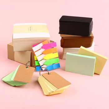 Kawaii Memo Pad Cute Sticky Note Block Pad Flashcards Post Bookmark Plan Sticker Index Card Stationery School Thing Office Decor