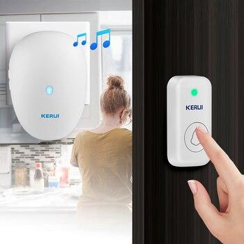 KERUI Smart Doorbell Home Security Welcome Wireless Doorbell 57 Chime 100m Remote Control EU US UK Plug Wireless Button DoorBell