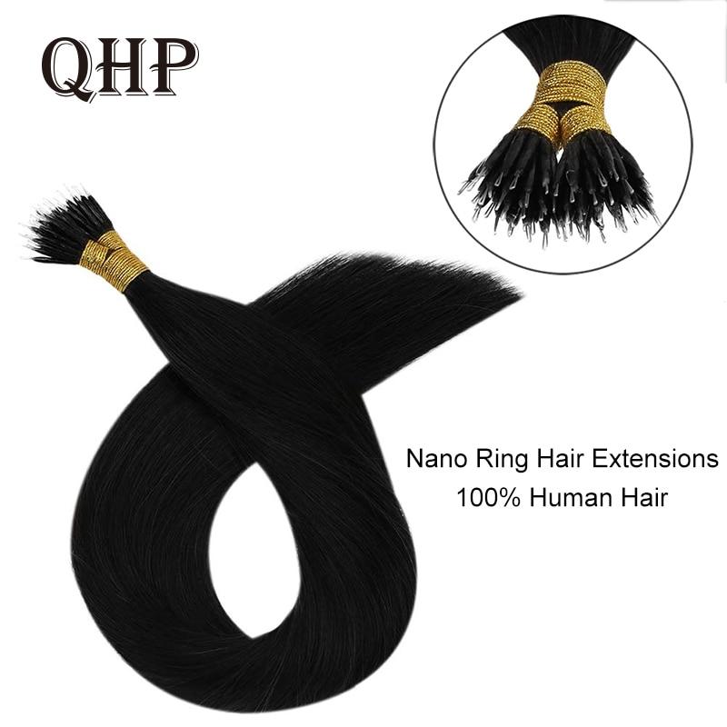 100% insan saçı Nano halka saç ekleme makinesi Remy önceden bağlı düz Nano İpucu hint saç
