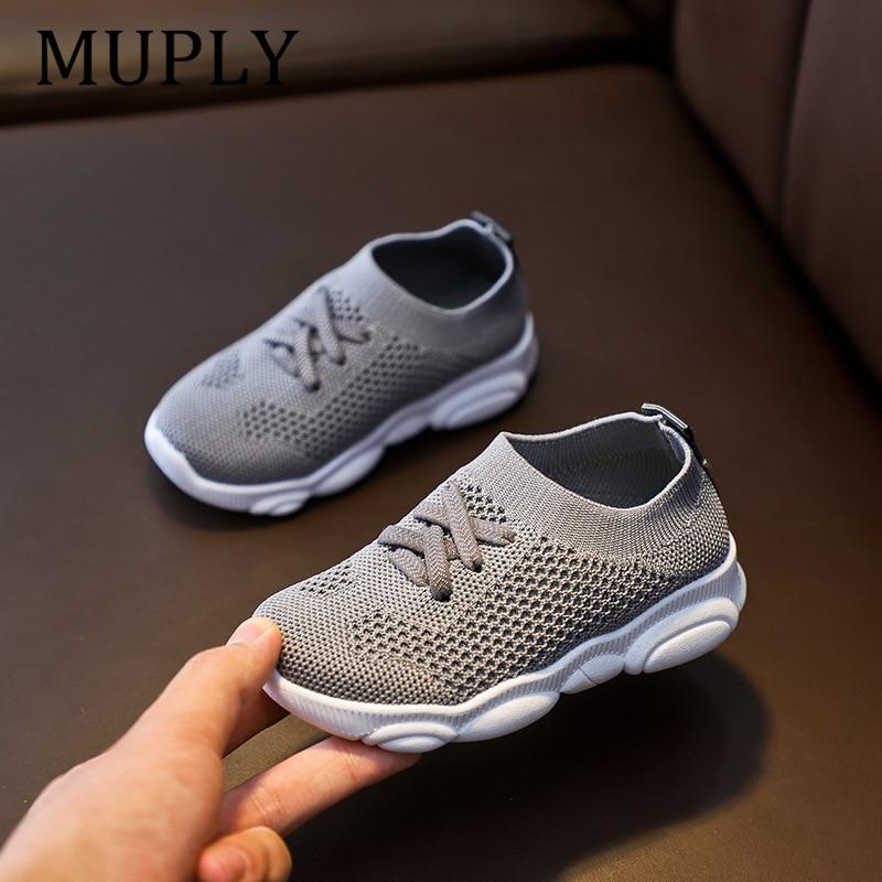 Enfants chaussures anti-dérapant en caoutchouc souple bas bébé Sneaker décontracté plat baskets chaussures enfants taille enfant filles garçons chaussures de sport