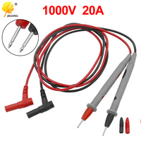 Sonda Universal prueba Pin para multímetro Digital, punta de aguja medidor Multi metro del probador de plomo Sonda de Cable de lápiz 1000V 20A