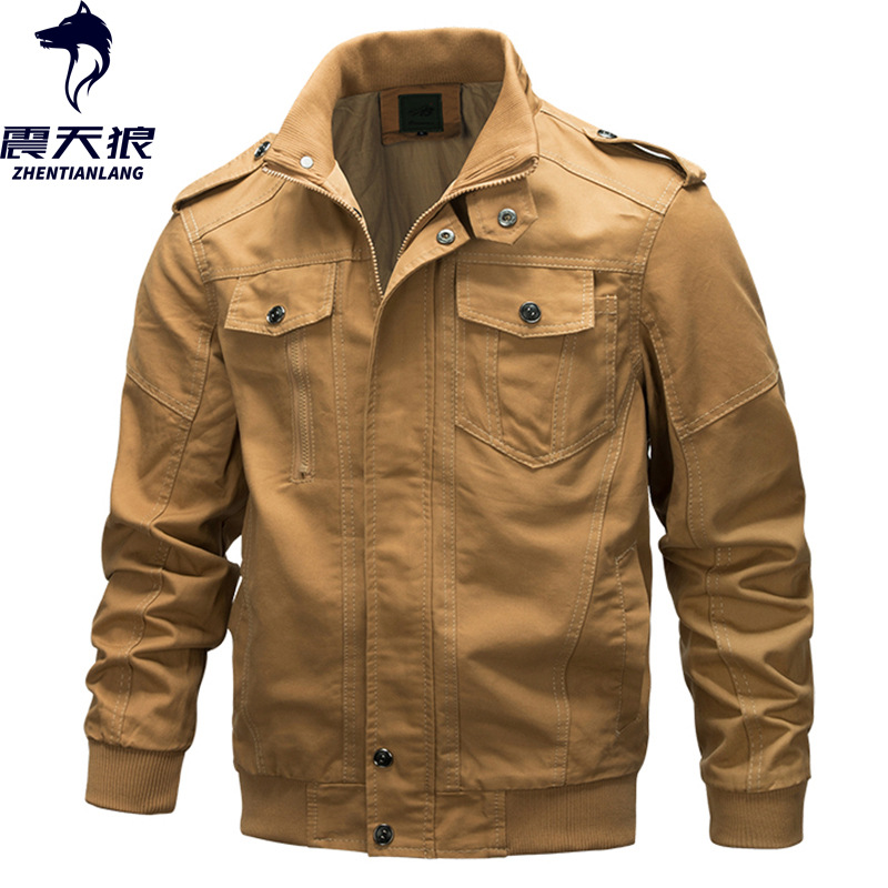 Frontière transfrontalière pour AliExpress veste hommes pur coton armée vêtements de travail manteau grande taille veste hommes Air Force un fabricants Dire
