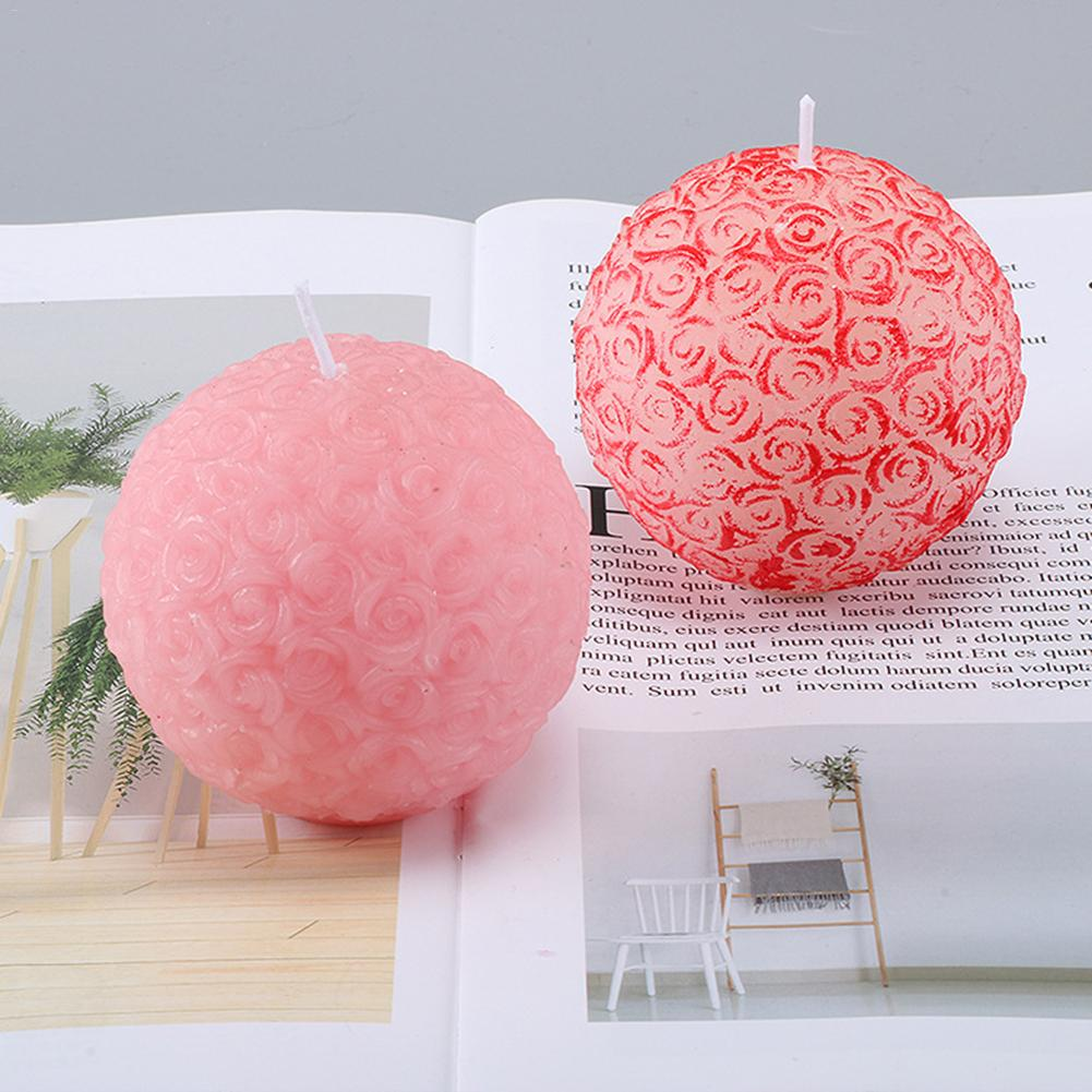 Plastic Candle Mold Reusable DIY Handmade Rose Ball Pudding Soap Candle Making Candle Making Supplies