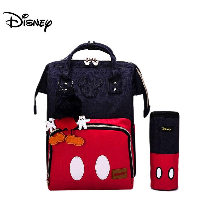 Disney Mickey classique sacs à couches momie maternité sac à dos étanche grande capacité soins infirmiers bébé soins voyage Nappy sacs landau