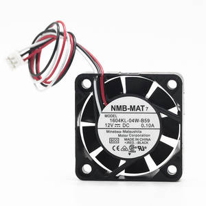 Genuine product NMB 1604KL-04W-B59 4010 4CM 12V 0.1A large air volume double ball cooling