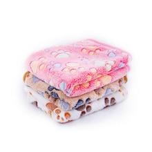 3 цвета, 40x60 см, 75x50 см, милое теплое Флисовое одеяло для сна с цветочным принтом для собак, кошек, щенков, собак