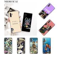 NBDRUICAI Gorillaz Boat Illust Music poster Black TPU Soft Phone Case Cover for Samsung Note 3 4 5 7 8 9 10 pro M10 20 30(China)
