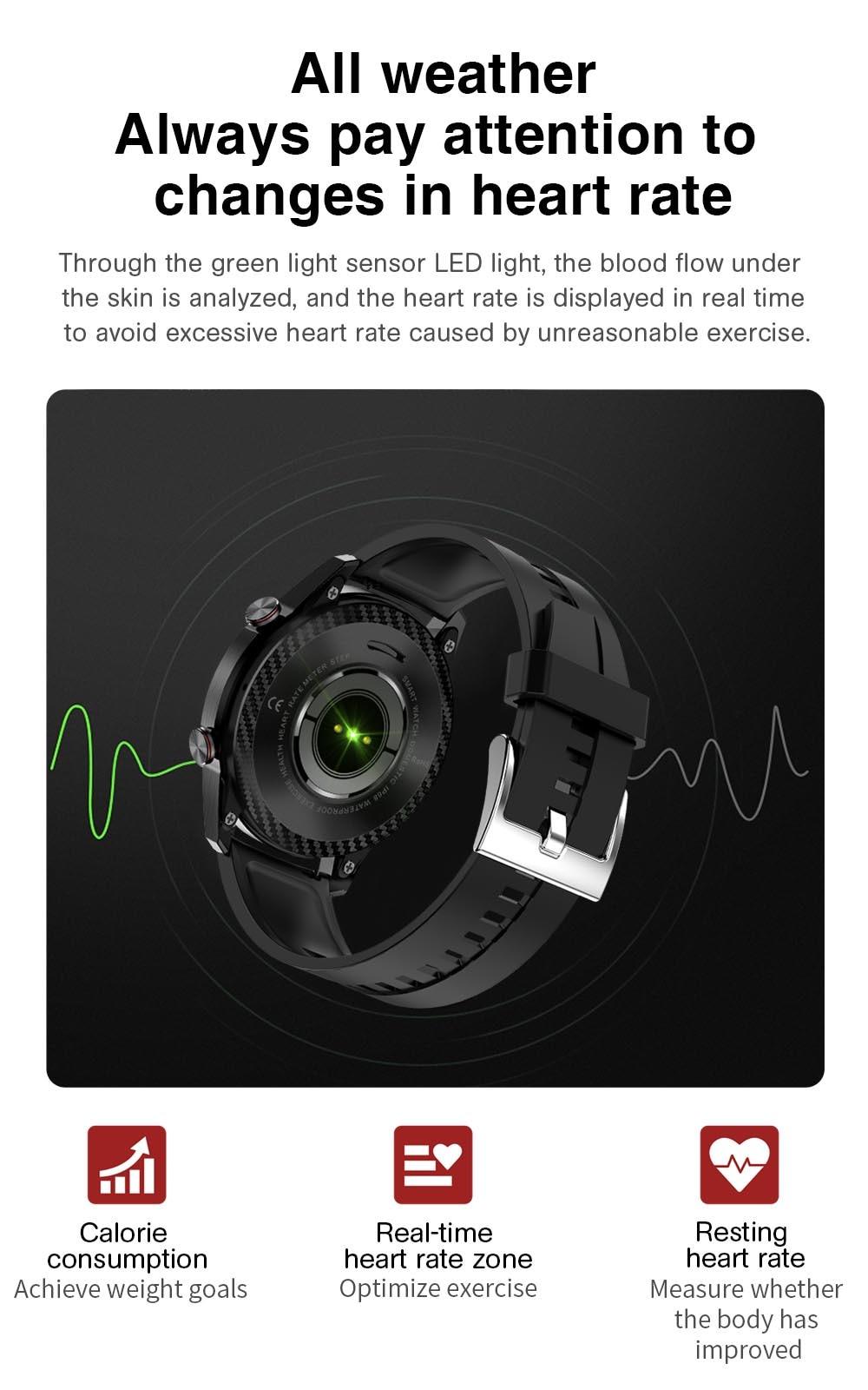 Hf542f6f281074547945a0ea144642713m TK2-8 Smart Watch For Men Bluetooth Call IP68 Waterproof Blood Pressure Heart Rate Monitor New SmartWatch Sports Fitness Tracker
