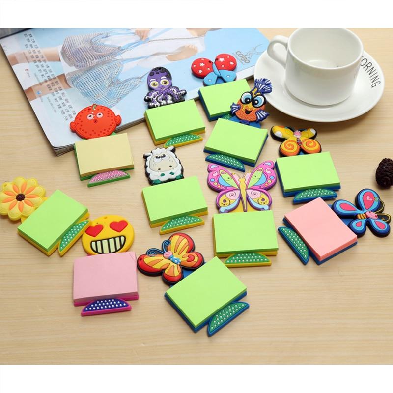 Cute Animal Note Paper Fridge Magnets Message Sticker Refrigerator Sticker Home Kitchen Decoration Note Sticker