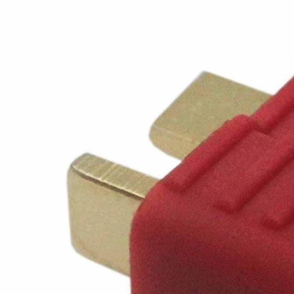 10 pièces nouveau connecteur anti-dérapant t-plug Deans mâles pour Deans RC Lipo batterie hélicoptère 100A Deans plaqués or